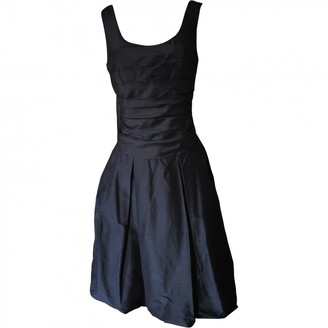 Vera Wang Black Silk Dress for Women