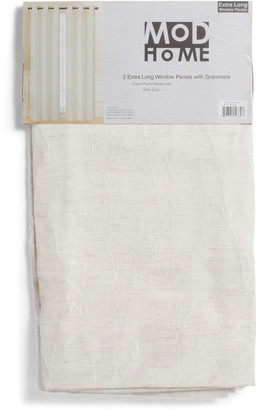 38x96 Set Of 2 Linen Look Curtains