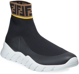 Fendi Men's Mania Reloaded FF Sock Sneakers
