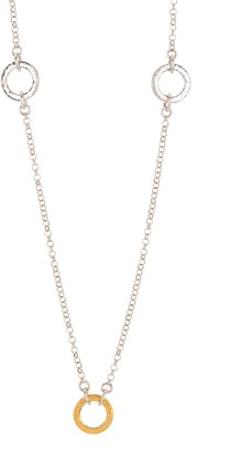 Gurhan 24K Gold Plated Sterling Silver Long Loop Station Necklace