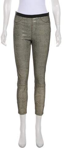 Helmut Lang Mid-Rise Leather Leggings w/ Tags