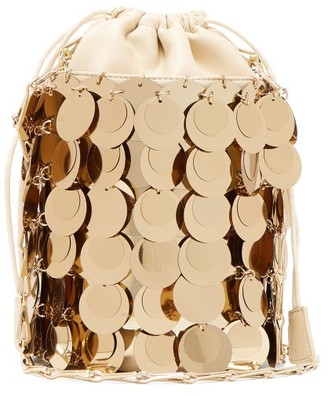 Paco Rabanne Sparkle 1966 Small Sequinned Bucket Bag - Gold
