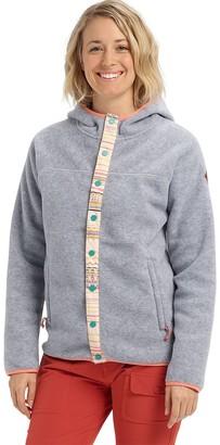 Burton Hearth Snap-Up Hooded Fleece Jacket - Women's