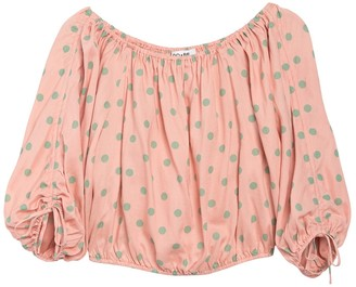 Do & Be Polka Dot Off-the-Shoulder Crop Top