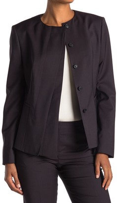 HUGO BOSS Jadela Mini Houndstooth Wool Suit Jacket (Regular & Petite)