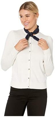 Lauren Ralph Lauren Cotton Modal Long Sleeve Cardigan (Lauren Navy) Women's Clothing