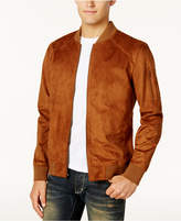 American Rag Men's Faux Suede Bomber Jacket, Created for Macy's