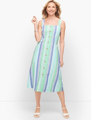 Talbots Beachcomber Stripe Midi Dress