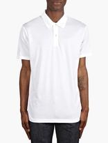 Sunspel White Jersey Polo Shirt