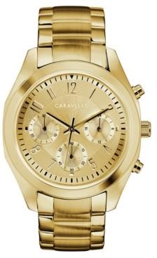 Caravelle Designed by Bulova Women's Gold-Tone Stainless Steel Bracelet Watch 36mm