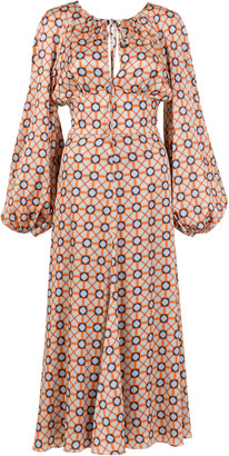 Silvia Tcherassi Lottie Tie-Accented Cotton Dress
