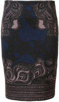 Yigal Azrouel Ganesha print fitted skirt - women - Polyester/Spandex/Elastane - 0