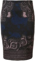 Yigal Azrouel Ganesha print fitted skirt