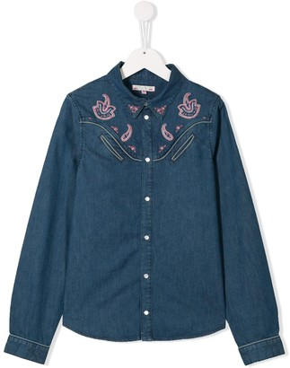 Bonpoint TEEN paisley embroidered shirt