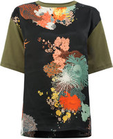 Dries Van Noten printed front short sleeve T-shirt - women - Silk/Cotton - S