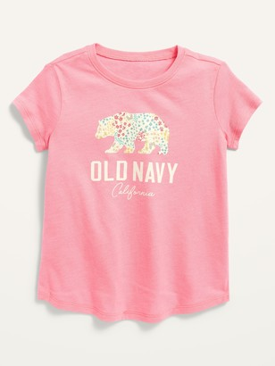 Old Navy Short-Sleeve Logo-Graphic Tee for Toddler Girls