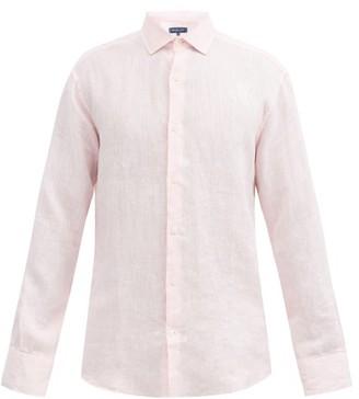 Frescobol Carioca Slubbed-linen Poplin Shirt - Mens - Pink