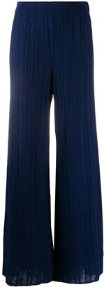 M Missoni Wide-Leg Knitted Trousers