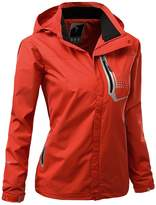 Xpril Womens All Weather Proof outdoor Hoodie Windproof outwear RED Size L