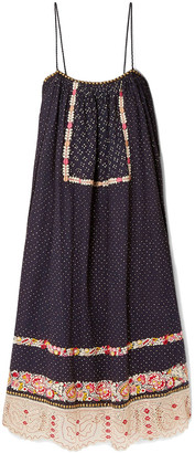 Ulla Johnson Nara Studded Embroidered Linen And Cotton-blend Dress