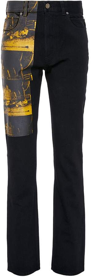 Calvin Klein '5 Deaths' print jeans