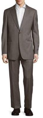 Armani Collezioni Classic Fit Pinstripe Wool Suit