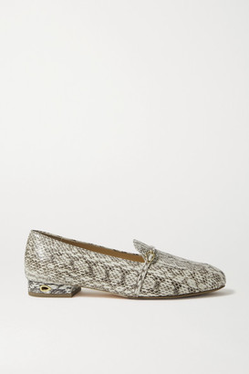 Jennifer Chamandi Fabrizio Snake Loafers - Snake print