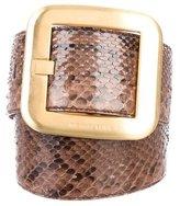 Michael Kors Snakeskin Waist Belt
