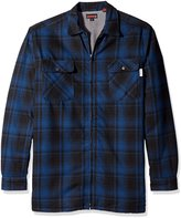 Wolverine Men's Big and Marshall Flannel Sherpa Lined Full Zip Shirt Jacket