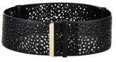 Salvatore Ferragamo Wide Perforated Leather Belt