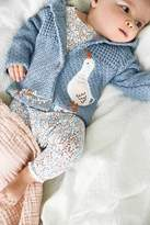 Next Girls Blue Duck Hooded Cardigan (0mths-2yrs) - Blue