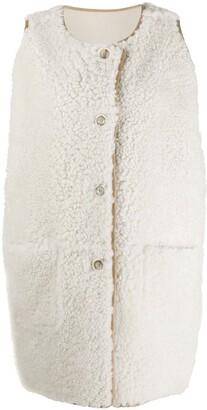 Marni Sleeveless Lamb Fur Jacket