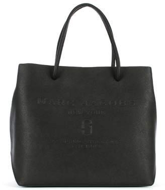Marc Jacobs Logo Black Saffiano Leather East West Shopper Bag