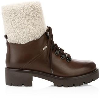 Aquatalia Jamie Shearling & Leather Hiking Boots