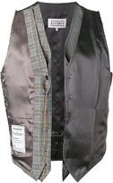 Maison Margiela Re-edition deconstructed waistcoat - men - Spandex/Elastane/Viscose/Wool/Virgin Wool - 48