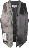 Maison Margiela Re-edition deconstructed waistcoat - men - Spandex/Elastane/Viscose/Wool/Virgin Wool - 48