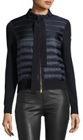 Moncler Tie-Front Down Cardigan