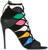 Salvatore Ferragamo colour block sandals - women - Calf Leather/Leather/Suede - 6
