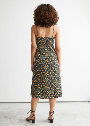 And other stories Strappy A-Line Midi Dress