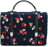 Dolce & Gabbana floral ladybird bag - kids - Calf Leather/Polyester - One Size