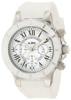 A Line a_line Women's 20101DV Marina Chronograph White Textured Dial White Silicone Watch