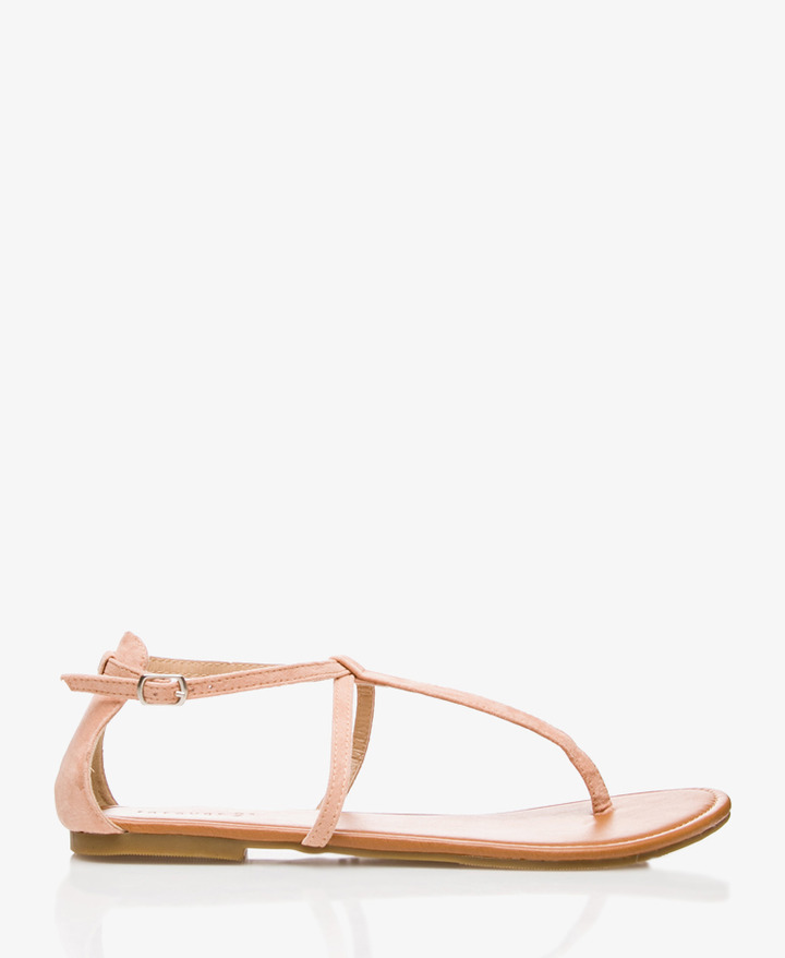 Forever 21 Faux Suede Thong Sandals