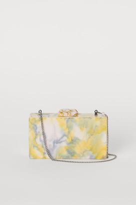 H&M Marbled clutch bag