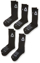 Reebok Knit Mid Calf Tiered Striped Socks (5 Pack)