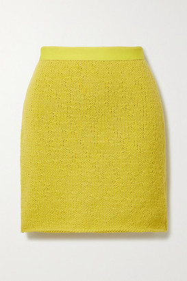 Bottega Veneta Wool And Cashmere-blend Mini Skirt - Yellow