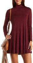 Charlotte Russe Turtleneck Trapeze Shift Dress