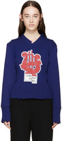 Marc Jacobs Blue Embroidered Sequin Sweater