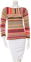 Missoni Chevron Pattern Knit Top