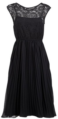 Dorothy Perkins Womens Izabel London Black Lace Overlay Dress, Black