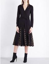 Diane von Furstenberg Stevie pleated jersey wrap dress